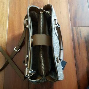 Dkny Bags - NWT DKNY Brown Vela Triple Comp Satchel